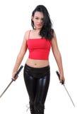 Samurai della donna Fotografie Stock