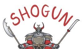 Samurai dello shogun Fotografie Stock