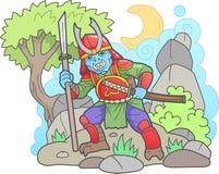 Samurai dello zombie, immagine divertente Fotografie Stock Libere da Diritti