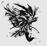 Samurai di angelo nel salto micidiale royalty illustrazione gratis