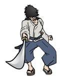 Samurai di attacco Fotografie Stock Libere da Diritti