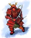 Samurai diabolico fotografia stock libera da diritti