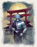 Samurai do vivo ilustração royalty free