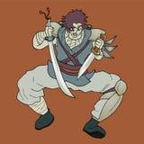 Samurai draw Stock Photography
