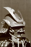 Samurai armor. Elements of Japanese armor - samurai helmet Suji bachi kabuto with front embellishment maedate and protective mask mempo royalty free stock image
