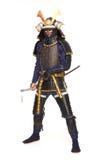Samurai en armadura foto de archivo