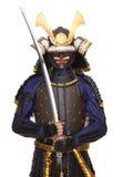 Samurai en armadura imagen de archivo libre de regalías