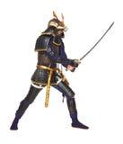 Samurai en armadura fotos de archivo libres de regalías