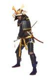 Samurai en armadura imagen de archivo