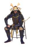 Samurai en armadura Fotos de archivo