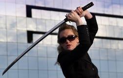 samurai för affärsledare fotografering för bildbyråer