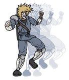 Samurai fight. Creative design of samurai fight Royalty Free Stock Image