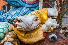 Samurai Frogs statue in Matsumoto, Japan Royalty Free Stock Images