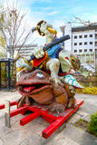 Samurai Frogs statue in Matsumoto, Japan Royalty Free Stock Photo