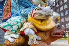 Samurai Frogs statue in Matsumoto, Japan Stock Image