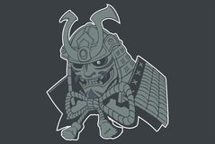 Samurai Ghost. Ilustration of japanese Ghost Samurai vector illustration
