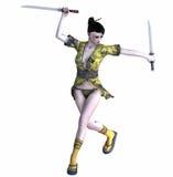 Samurai girl. 3d render of a samurai girl Royalty Free Stock Image