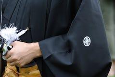 Samurai Grabbing Sword Stock Photos