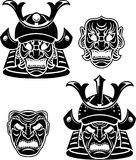 Samurai Head Collection Stock Photos
