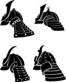 Samurai Helmet Set Stock Photo