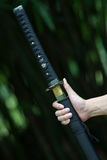 Samurai holds the sword Stock Images