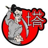 Samurai icon Royalty Free Stock Image