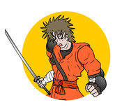 Samurai illustration Royalty Free Stock Image