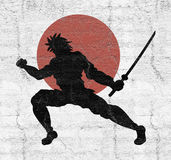 Samurai illustration Royalty Free Stock Photography