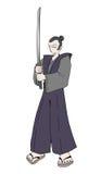 Samurai illustration Stock Images