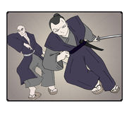 Samurai illustration Royalty Free Stock Photography