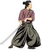 Samurai, japanische Kampfkunst Lizenzfreie Abbildung