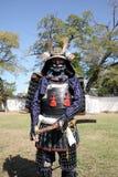 Samurai japonés con la espada del katana Imagen de archivo
