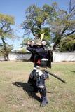 Samurai japonês com espada do katana Imagem de Stock Royalty Free