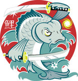Samurai Koi Fish Royalty Free Stock Image