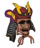 Samurai mask. Vector art f a sumurai helmet royalty free illustration