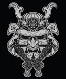 Samurai mask illustration Stock Images