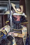 Samurai. Moscow, Russia - 4 November, 2016: IV citywide action festival  `Night of the Arts`. Man in samurai armor in DK Nagorniy Royalty Free Stock Photo