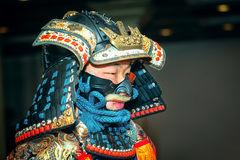 Samurai. Moscow, Russia - September 18, 2016: Samurai in ancient armor during the performance Stock Photography