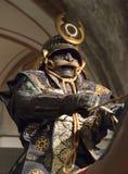 Samurai na armadura Imagens de Stock
