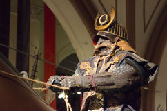 Samurai na armadura Fotografia de Stock Royalty Free