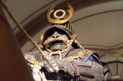 Samurai na armadura Fotos de Stock