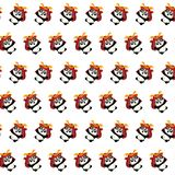 Samurai panda - sticker pattern 35 royalty free illustration