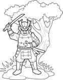 Samurai preparing to battle Stock Photos