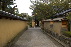 Samurai quarter, Kanazawa, Japan Royalty Free Stock Image
