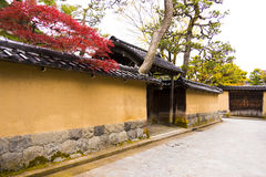 Samurai quarters in Kanazawa Royalty Free Stock Images