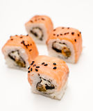 Samurai rolls. On white Royalty Free Stock Photos