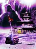 Samurai-Ruhestand Lizenzfreies Stockbild
