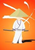 The samurai's revenge. Illustration Stock Photos