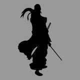 Samurai silhouette Royalty Free Stock Images