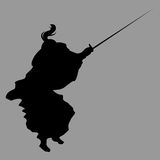 Samurai silhouette. Warrior sword ninja japan Royalty Free Stock Photos